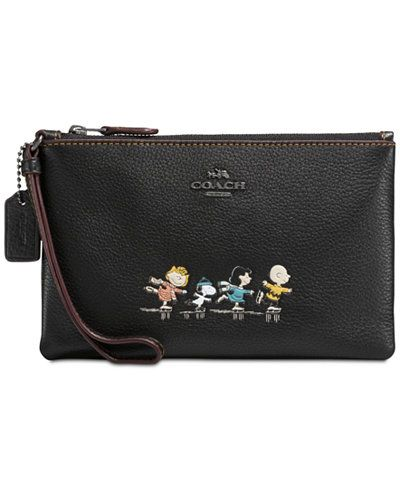 db615e018 COACH Peanuts' Snoopy Boxed Small Wristlet Small Backpack, Backpack Purse,  Fashion Backpack,