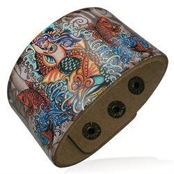 Design läderarmband.