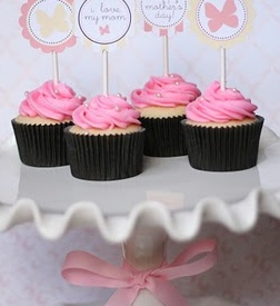 cupcakes with printables!