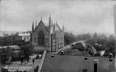 The Engineering School Tower in Melbourne,Victoria (year unknown). University of Melbourne Archives.