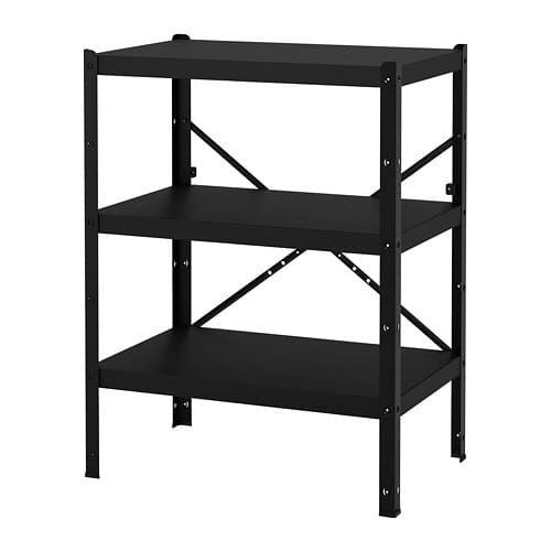 SAMMANHANG Wall shelf black IKEA list Shelves, Ikea