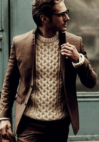 A Professional No Tie Look with a Bomber Style Jacket on a Winter Cotton Pullover