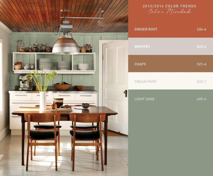 Paint trends for 2013 everyday hero palette from Kitchen cabinets colors 2014