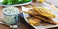 Polenta Crusted Plaice with Tartare Sauce