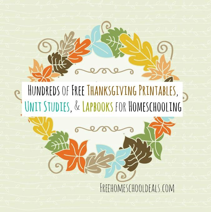 Hundreds of free Thanksgiving printables! Unit studies, lapbooks, and more -