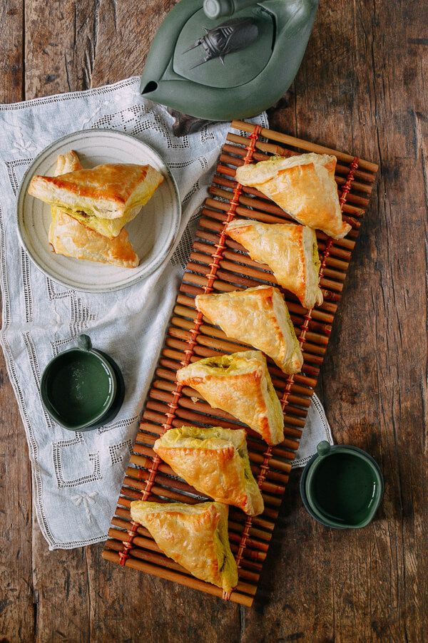 Curry Puffs - or use Crescent Rolls or Wontons or Egg Roll Wrappers iinstead of Puff Pastry