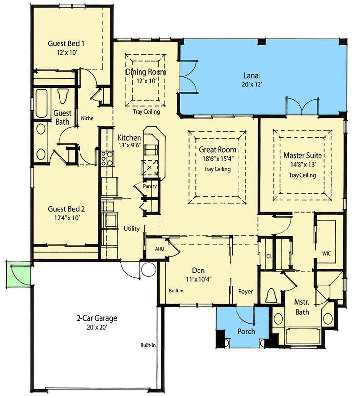 Energy Saver Plus House Plan - 33049ZR | 1st Floor Master Suite, CAD Available, Den-Office-Library-Study, European, Net Zero Ready, PDF, Split Bedrooms, Traditional | Architectural Designs