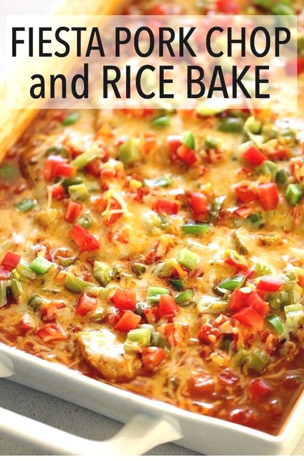 Pork Chop Recipes | Fiesta Pork Chop And Rice Bake Recipe