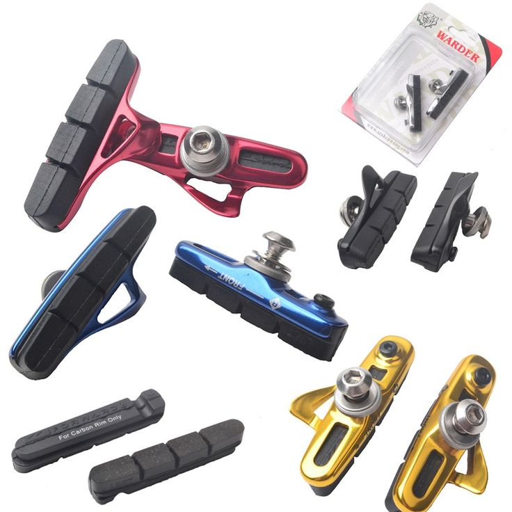 For shimano 105 bike brake shose CNC road bike brake blocks bicycle v brake pads 5 colors
