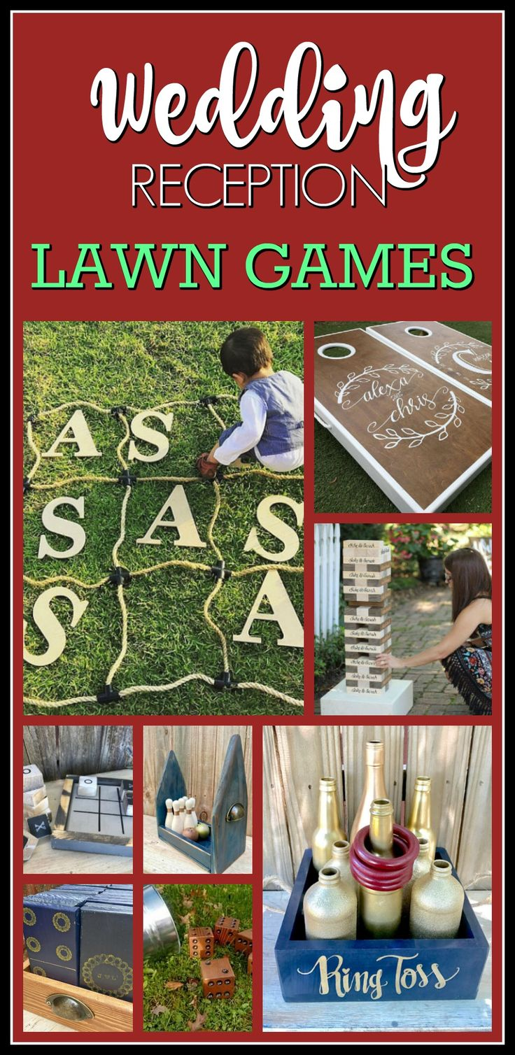Perfect for an outdoor wedding, family reunion, family game night, outdoor game night or outdoor party!  What a great way to entertain your wedding guests! Tic Tac Toe / Ring Toss / Bowling / Dominoes / Yardzee / Jenga / Cornhole / Initials Wedding FUN Over sized Big Customized Wedding Over sized Big Outdoor Wedding Yard Lawn Game! Fun Lawn or Outdoor Wedding Game #ad