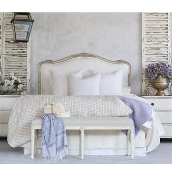 Eloquence Sophia Queen Headboard Silver Antique White Two Tone Pinterest Bedrooms Master Bedroom And French Farmhouse