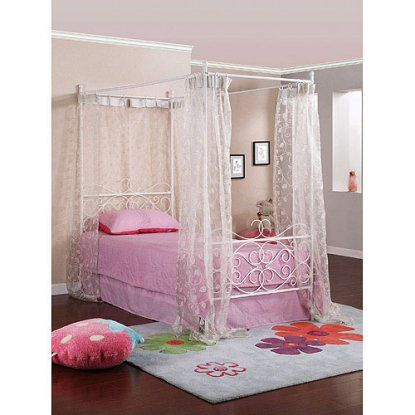 Powell Furniture Canopy Wrought Iron Princess Bed | Hayneedle