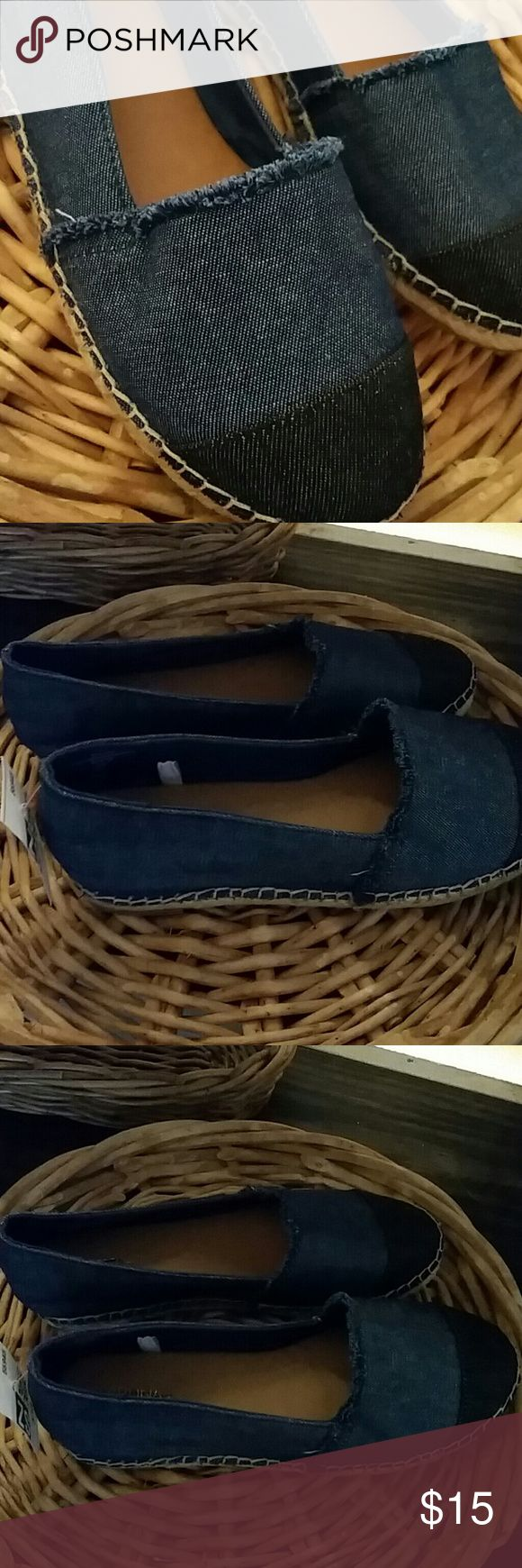 Merona Denim Espadrilles Shoe New with out box. Merona Shoes Espadrilles