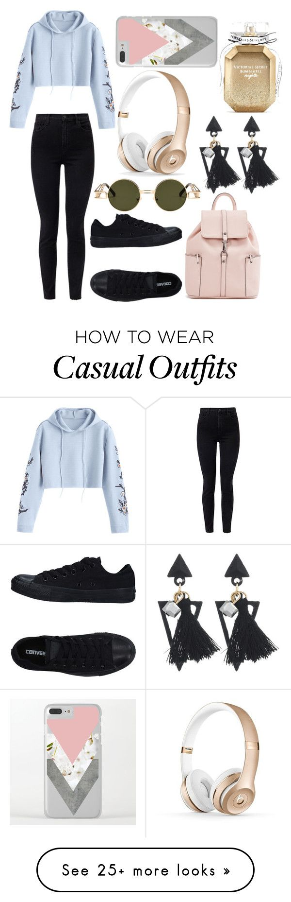 """""""Casual Look"""" by mackenzieq on Polyvore featuring J Brand, Converse and Victoria's Secret"""