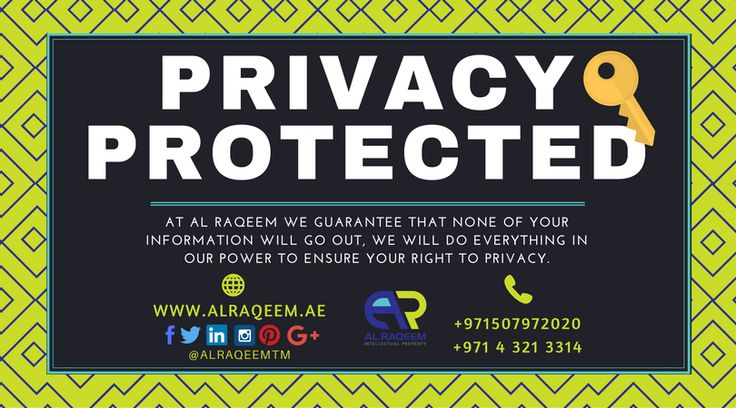 Why choose us? Privacy Protected At Al Raqeem Trademark Registration Dubai we guarantee that none of your information will go out, We will do everything in our power to ensure your right to privacy. Talk to our IP agents for free consultation! 📞📱Whatsapp/call: +971507972020 📧email: kaycee@alraqeem.ae 🌏 www.alraqeem.ae #trademark #worldwide #register #dubai #uae #business #lawyer #government #license #alraqeem #intellectualproperty #intellectual #law #rights #identiy #brand #name #symbols…