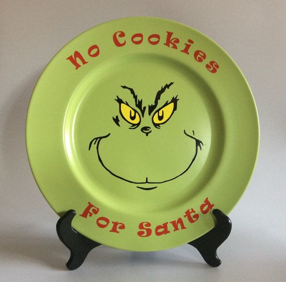 No Cookies for Santa Charger/ Grinch charger/ Christmas Decoration/ Funny…