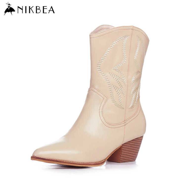 Find More Women's Boots Information about Nikbea Handmade Genuine Leather Western Boots Cowboy Large Size Women Pointed Toe Boots 2016 Autumn Shoes Fashion Botas Mujers,High Quality boot leather,China leather wool boots Suppliers, Cheap boots for women leather from nikbea on Aliexpress.com
