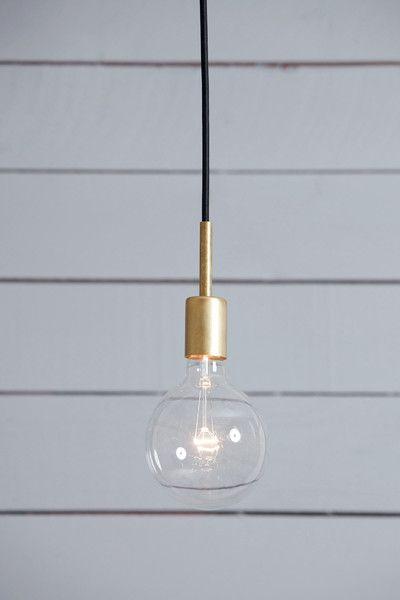 Brass Pendant Light - Mid Century - Industrial Light Electric - 1