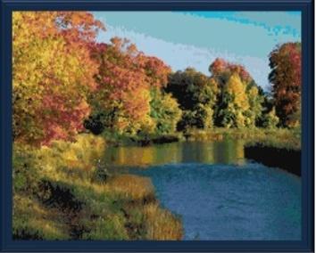 Credit River, Ontario cross stitch pattern