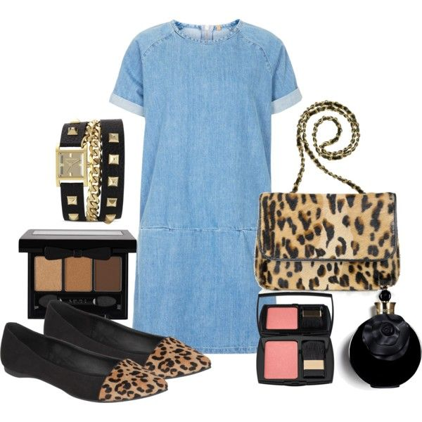 """""""Leopard and denim"""" by dianamarinm on Polyvore"""