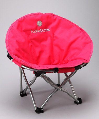 Look at this #zulilyfind! Pink Small Moon Camp Chair #zulilyfinds
