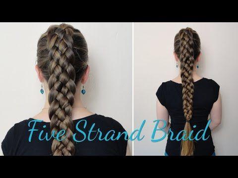 Haartraum Fünfer Zopf Anleitung - YouTube