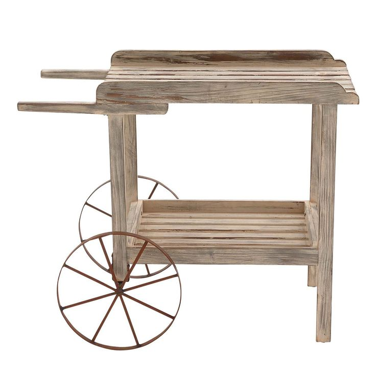 Woodland Imports 58504 The Magical Wood Metal Handcart