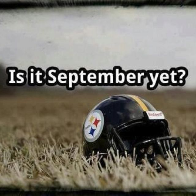 Countdown has started!!!! It's almost football time!!!!! #letsgosteelers