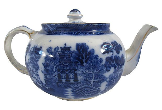 English Willow Teapot On Onekingslane Com Tea Pots