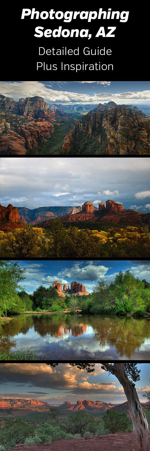 Photographing Sedona, Arizona. A detailed guide to photographing Sedona's beautiful red rock landscapes.