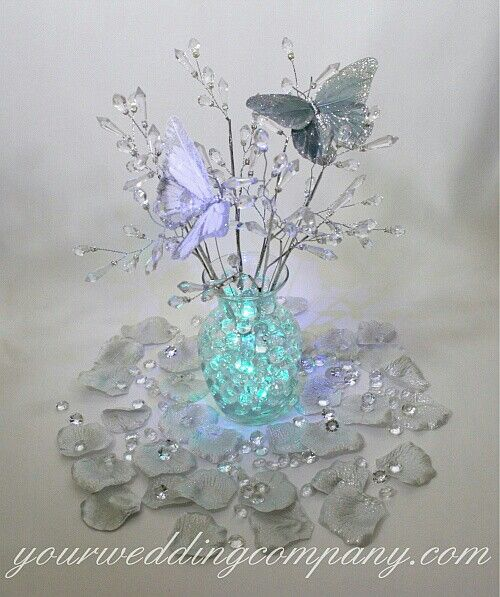 Butterfly Centerpiece - so pretty. I wonder if I could make something similar myself without spending a ton of money for it.