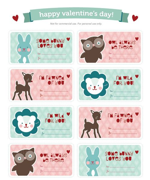 Best ValentineS Day Labels Templates And Printables Images On