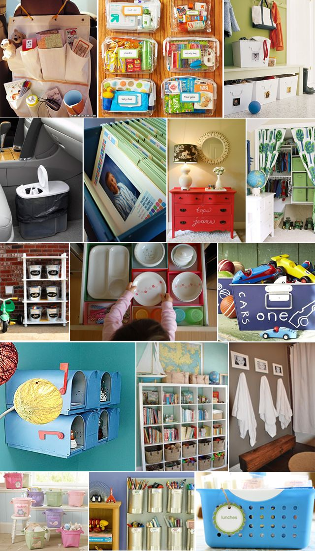 kids organization ideas.. links all in one spot