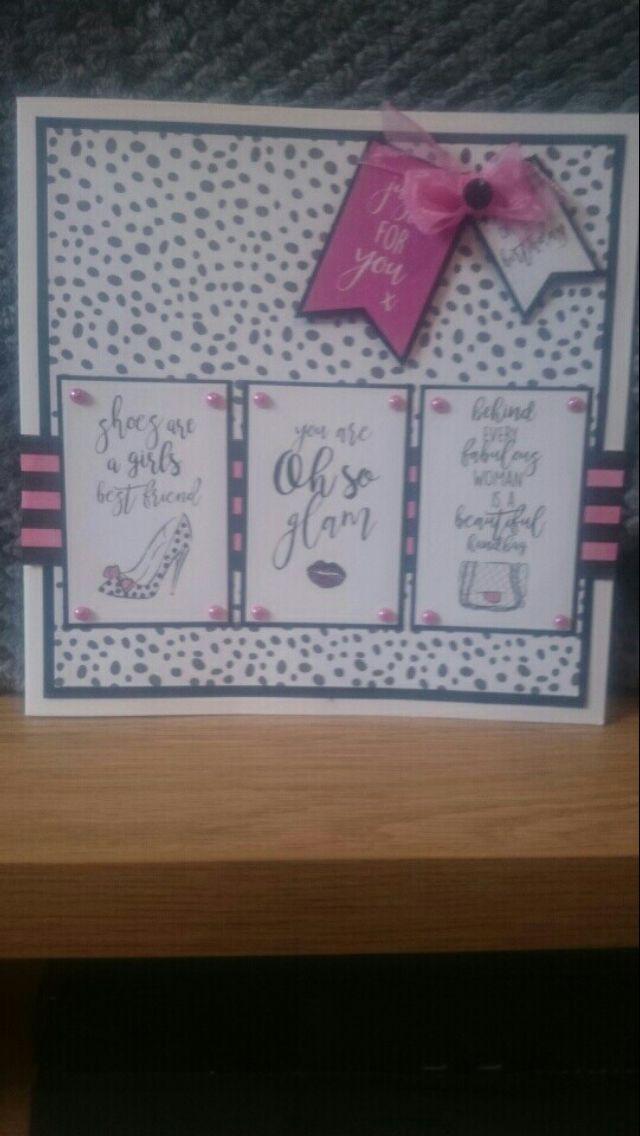 A card I made using craftwork cards Fashionista