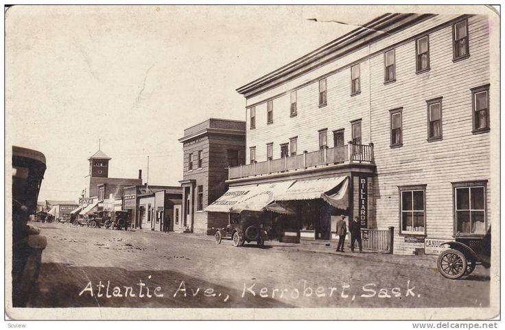 RP: Atlantic Avenue , KERROBERT , Saskatchewan , Canada , 00-10s ; Billiards hall-right Item number: 209141790