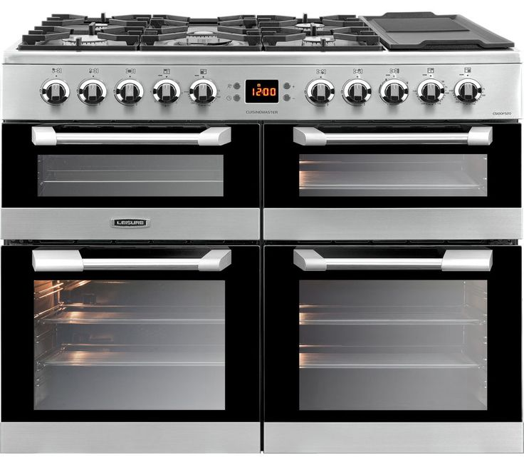 Buy LEISURE  Cuisinemaster CS100F520X Dual Fuel Range Cooker - Stainless Steel | Free Delivery | Currys