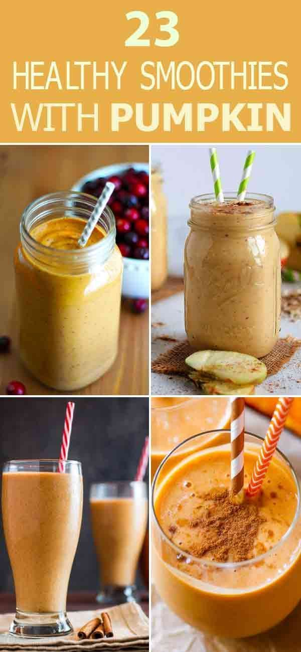 23 Healthy Smoothies With Pumpkin – Check out these delicious #Pumpkin #Smoothie…