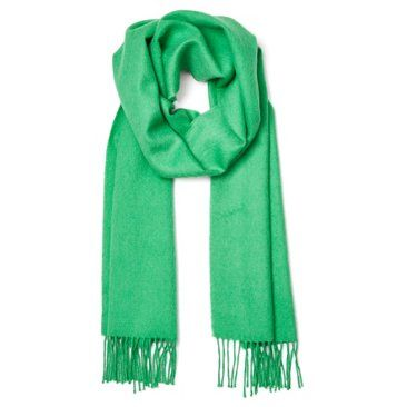 Check out this item at One Kings Lane! Brushed Alpaca Scarf, Green