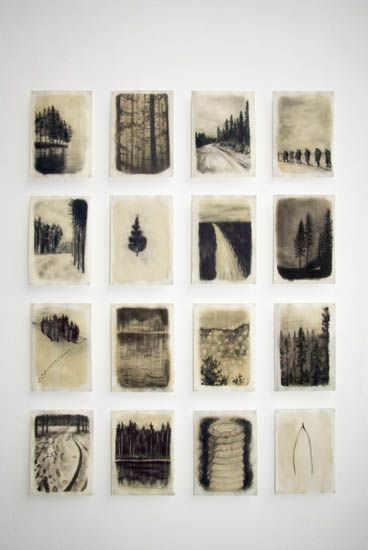 Lotte Oldfield | Hinterland charcoal studies