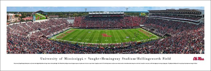 Ole Miss Rebels Mississippi Football Panorama - Vaught-Hemingway Stadium Panoramic Picture - Unframed $29.95