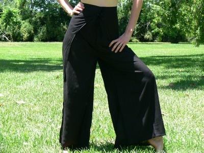 Rayon Wrap Pants Renaissance Pirate Costume Buccaneer Gypsy Wrap Around Black   eBay