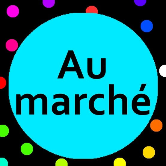 Learn food vocabulary words with the French children's song, Au marché song and song lyrics.