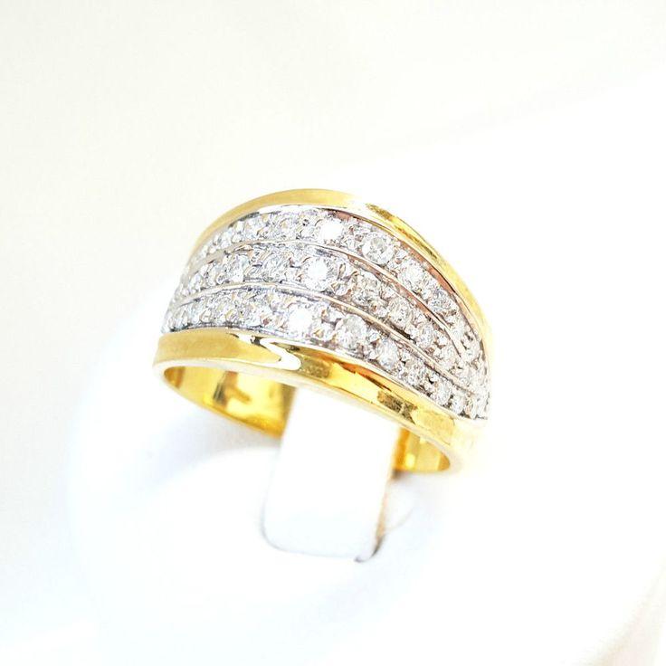 Anello Fascia Pavè Donna Oro 18kt 750 con Diamanti 0,65CT G-H VVS VERO AFFARE