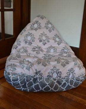 12dc093f00 This No-Sew DIY Bean Bag Chair Is A Snap To Make