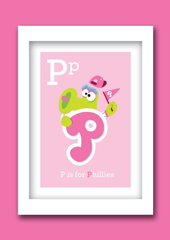 Must have for a nursery!!!!  Phillies  Customizable  print 8 W x 10H by ABCMVPs on Etsy, $20.00