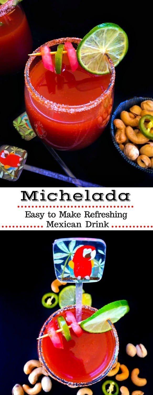 Michelada - Refreshing Mexican Drink : #mexican #drink #michelada