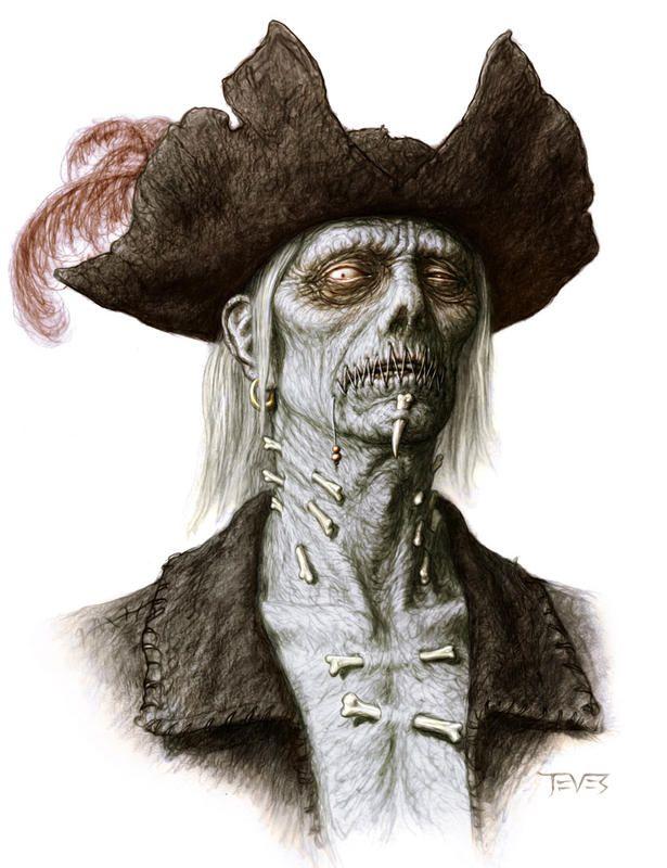 Zombie Pirate - Blue Hugh