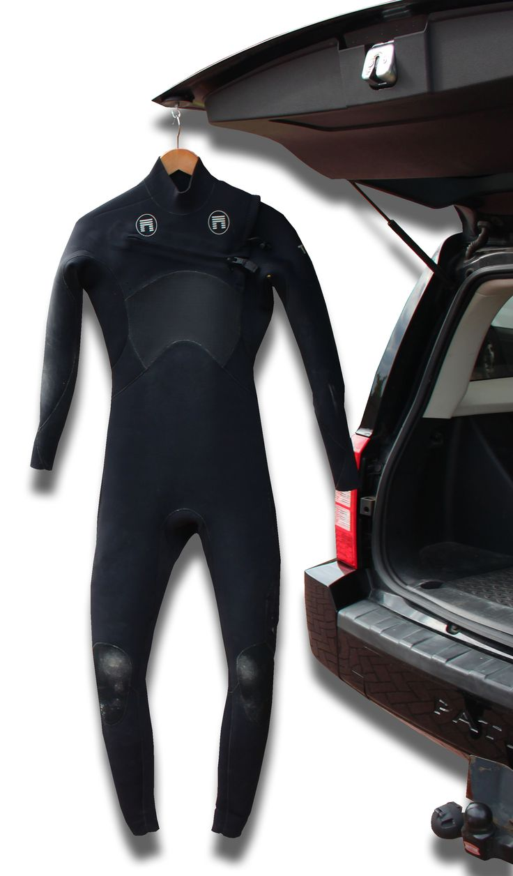 """The Northcore """"Hook Up"""" hanger is a versatile rubber coated magnet designed to allow hanging of wetsuits, sport apparel and clothing on flat metal surfaces. The """"Hook Up"""" hanger is great for surf, road and camping trips as items can be hung from cars hatchbacks. www.northcore-global.com"""