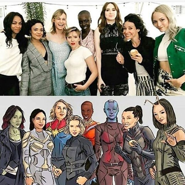 Reposting @thenerdcorneruk: The ladies of marvel 👌🏼 . Looking spot on! How lucky are we. . Owner unknown, posted from @comicbey 🙌🏼 . . 🤓🤓🤓 #marvel #ladies #gamora #captainmarvel #thewasp #nebula #blackwidow #avengers #mcu