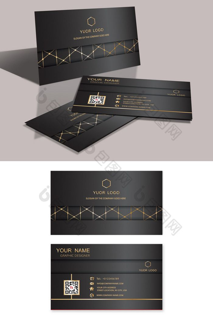 Black Capable And Simple Business Card Ai Free Download Pikbest Simple Business Cards Business Cards Business Card Design